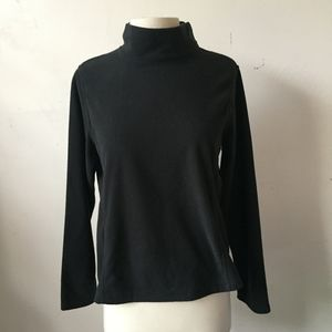 Lands' End Fleece Mockneck Sweater